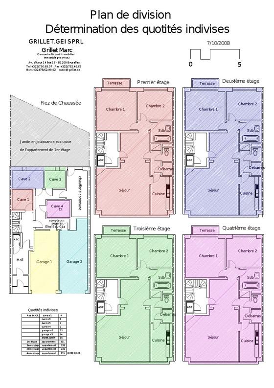 Grillet gei mesurages mesurage de b timents for Comment obtenir les plans d un immeuble